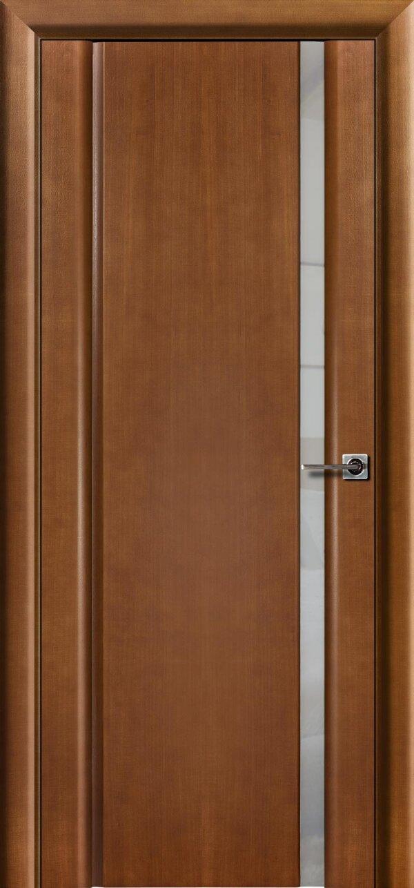 Ульяновская межкомнатная дверь Viva Меланит 1 (со стеклом) — Дверимаркт