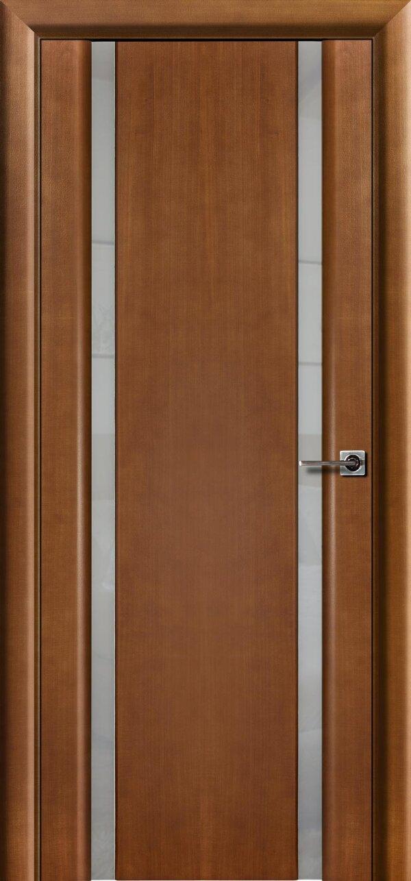 Ульяновская межкомнатная дверь Viva Меланит 2 (со стеклом) — Дверимаркт