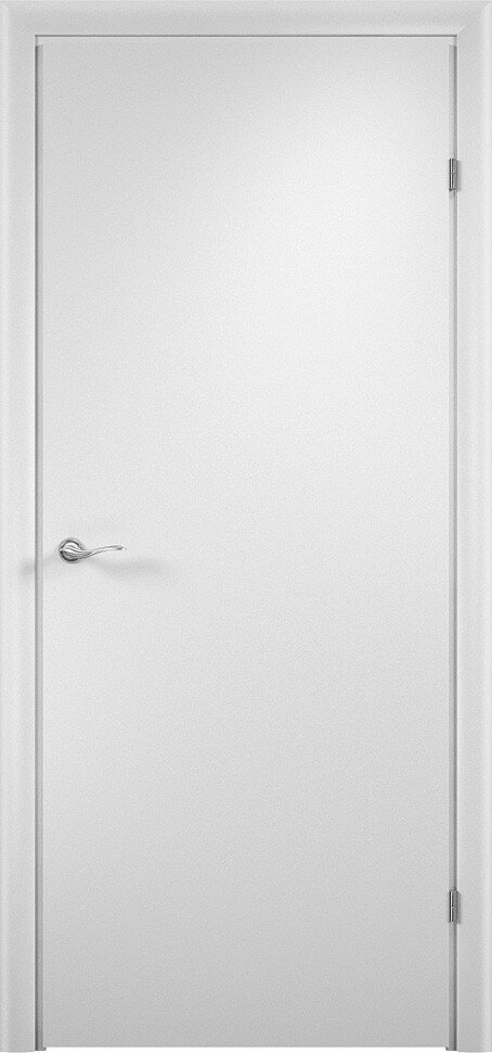 Финская строительная офисная дверь гладкая Белая с установленной фурнитурой — Дверимаркт