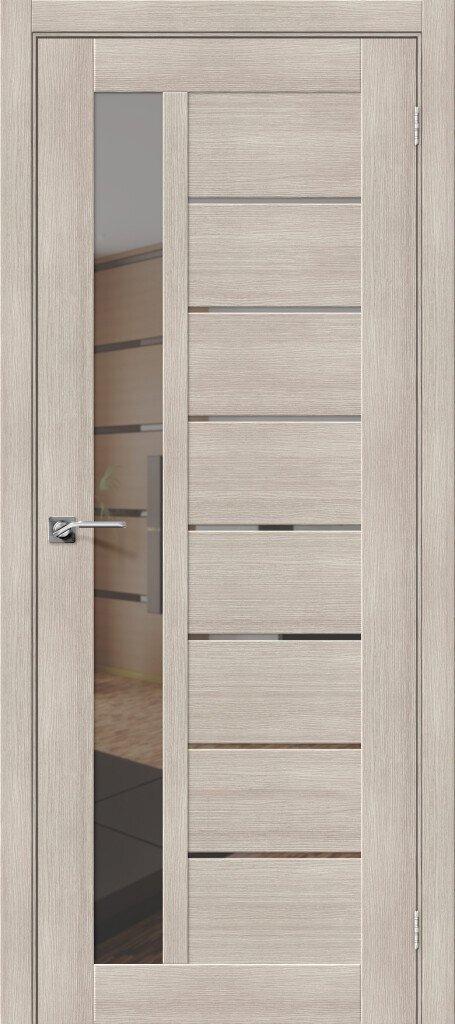 Дверь межкомнатная из эко шпона ElPorta Порта-27 зеркало графит — Дверимаркт