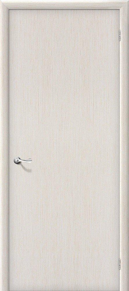 Межкомнатная ламинированная строительная дверь Браво Гост Л-21 (Беленый дуб) — Дверимаркт