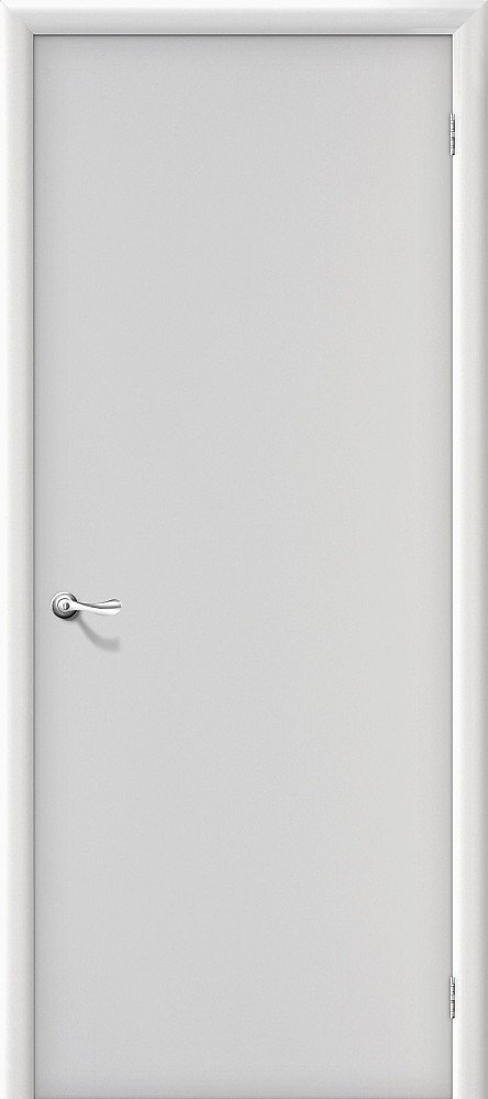 Межкомнатная ламинированная строительная дверь Браво Гост Л-23 (Белый) — Дверимаркт