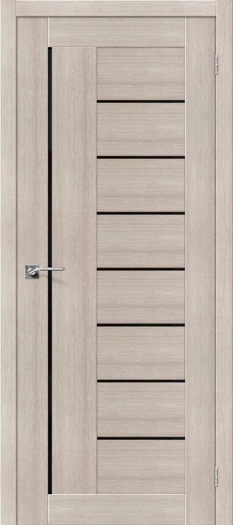 Дверь межкомнатная из эко шпона ElPorta Порта-29 черное стекло — Дверимаркт