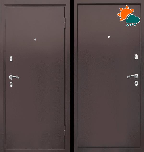 Входная металлическая дверь CommandDoors Патриот Металл-Металл — Дверимаркт