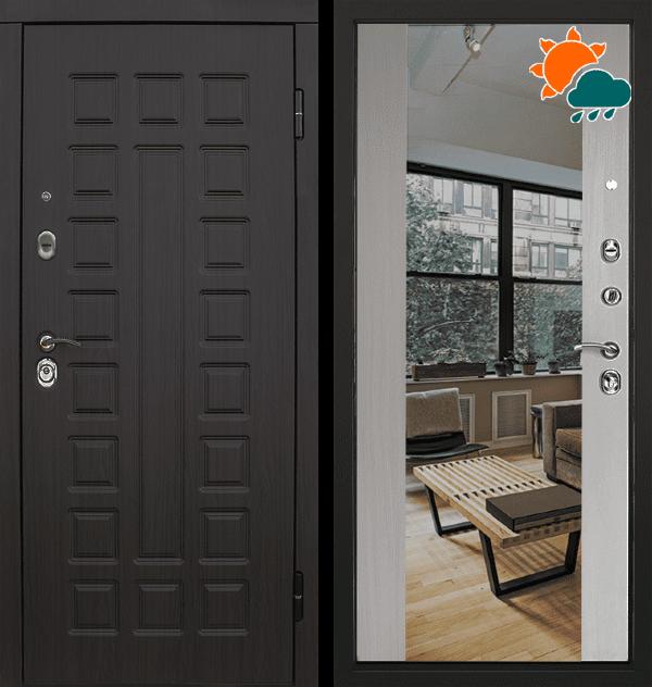 Входная металлическая дверь CommandDoors S01 2К с зеркалом — Дверимаркт