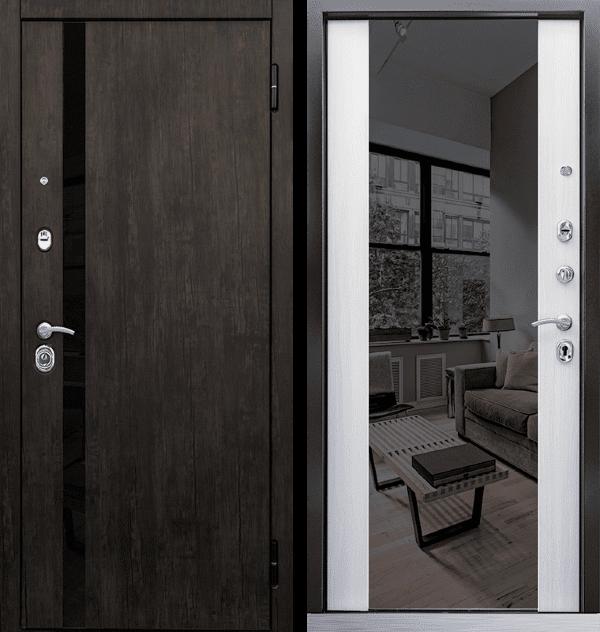 Входная металлическая дверь CommandDoors Премьер 2К с зеркалом — Дверимаркт