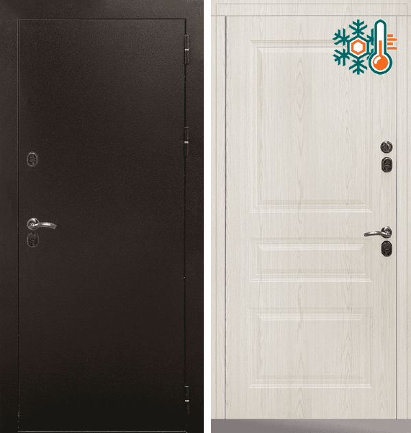 Входная металлическая дверь CommandDoors Сибирь Термо Стандарт — Дверимаркт