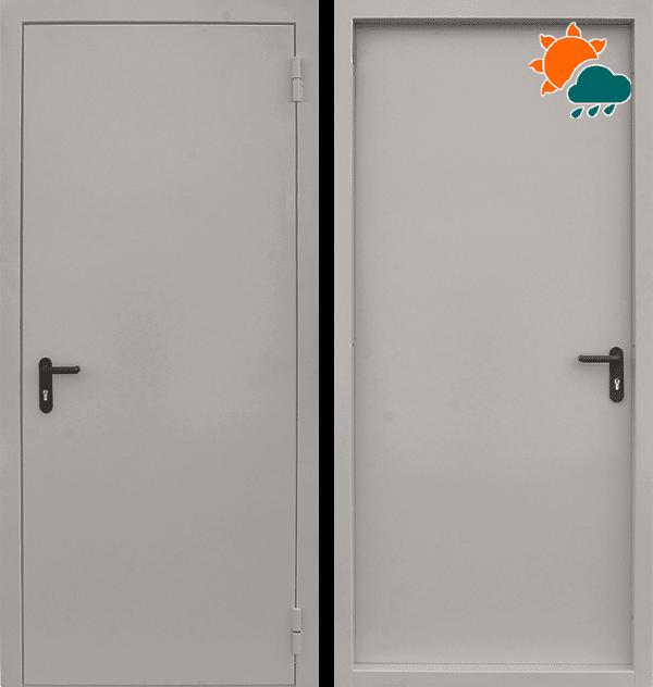 Входная противопожарная металлическая дверь CommandDoors EI60 RAL 7035 — Дверимаркт