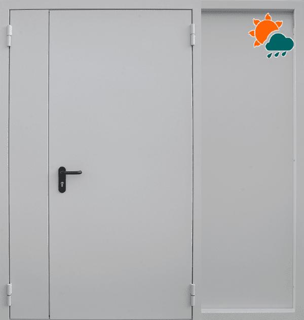 Входная противопожарная металлическая дверь CommandDoors EI60 RAL 7035 Распашная — Дверимаркт
