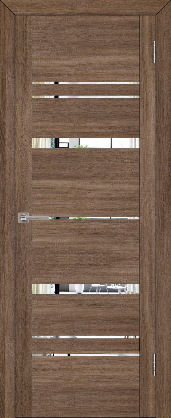 Межкомнатные двери экошпон Uberture Uniline 30027 (с зеркалом) — Дверимаркт