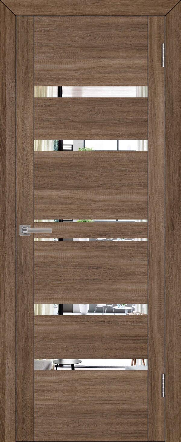 Межкомнатные двери экошпон Uberture Uniline 30030 (с зеркалом) — Дверимаркт