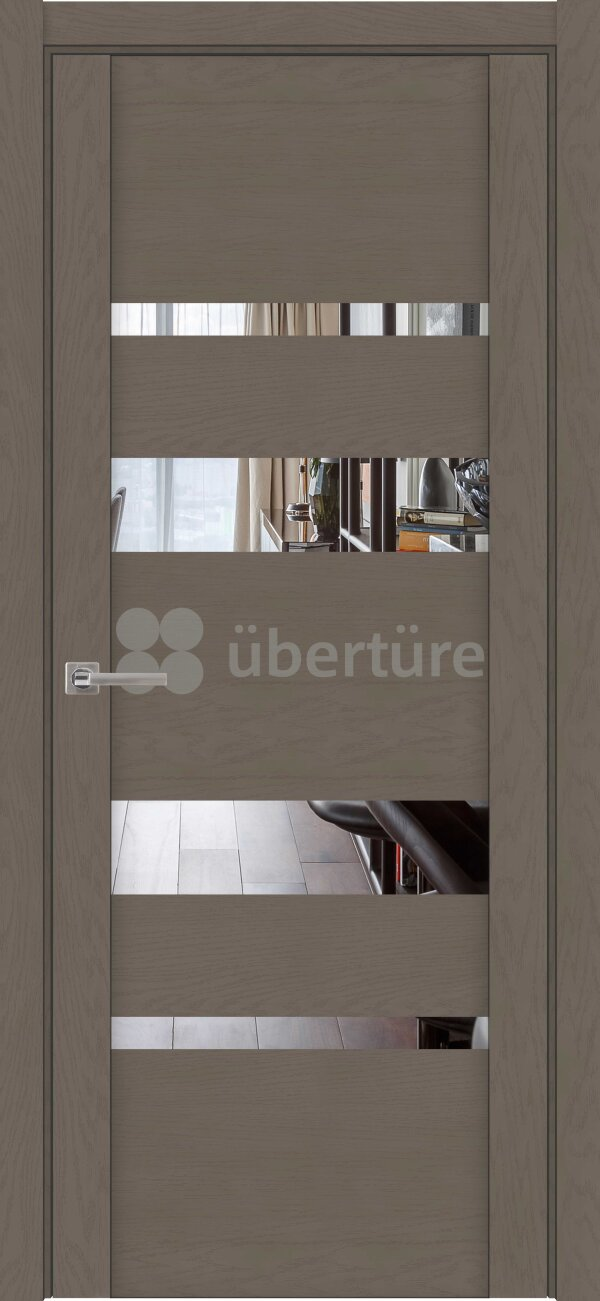 Межкомнатные двери экошпон Uberture Soft Touch 30013 (с зеркалом) — Дверимаркт