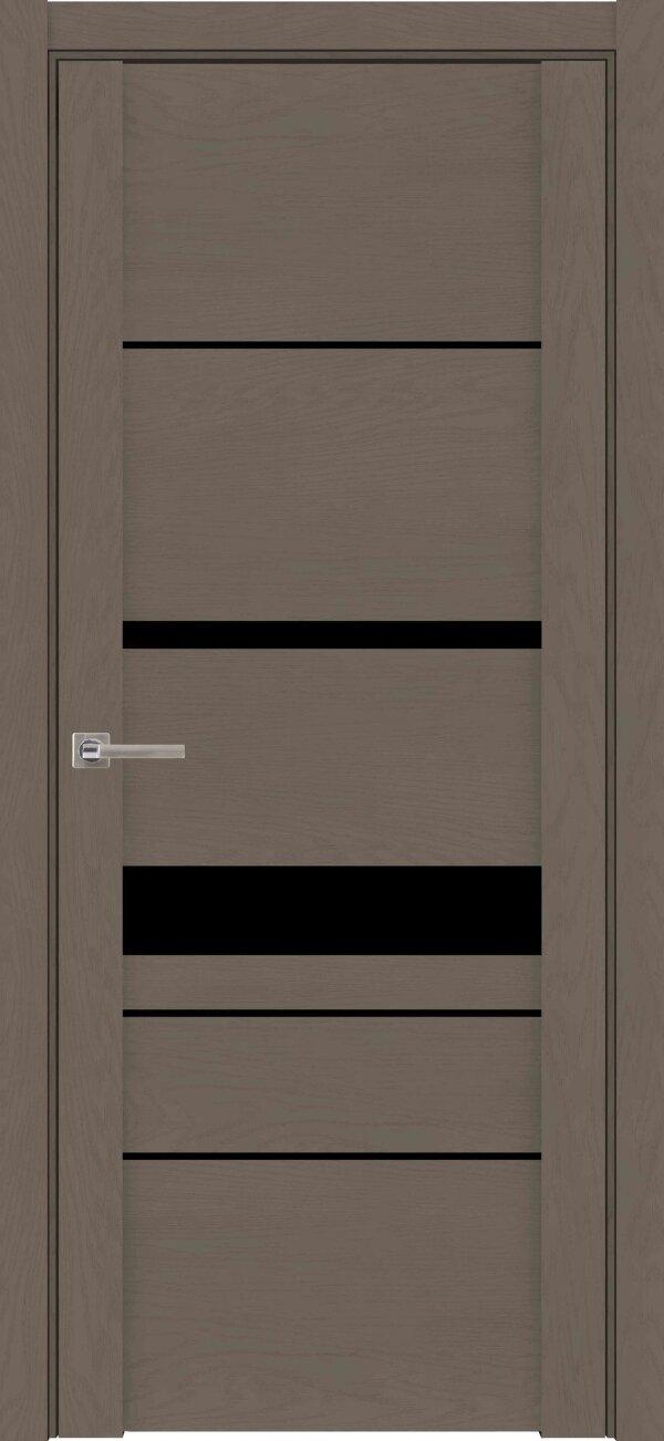 Межкомнатные двери экошпон Uberture Soft Touch 30023 (с черным стеклом) — Дверимаркт