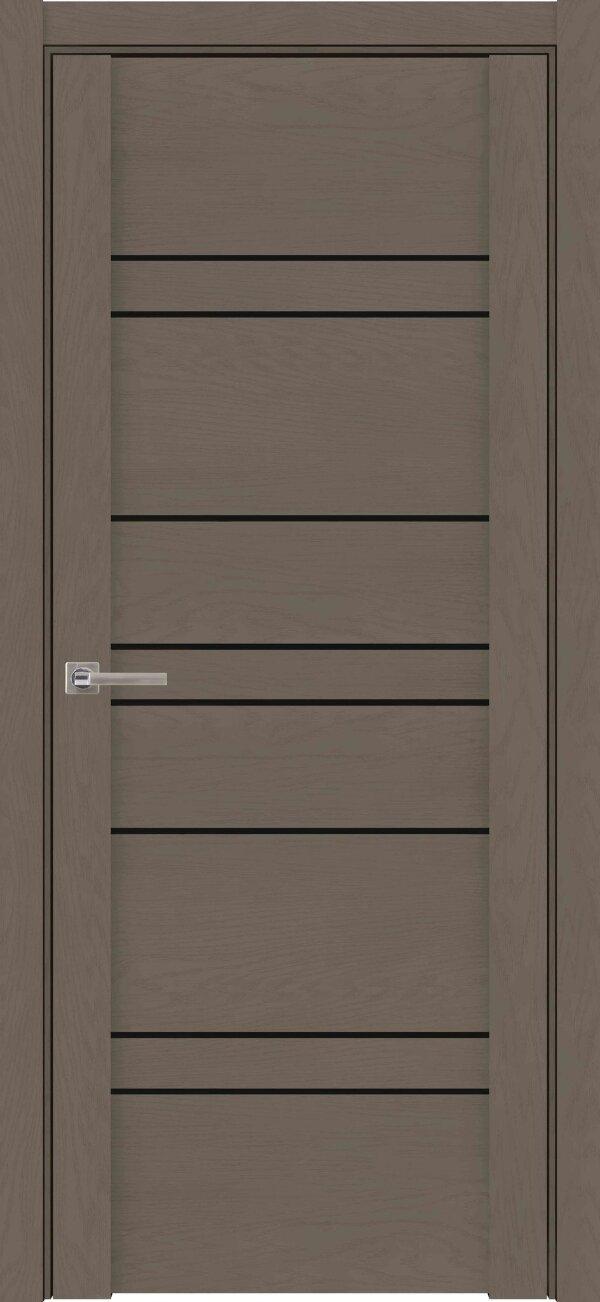 Межкомнатные двери экошпон Uberture Soft Touch 30032 (с черным стеклом) — Дверимаркт