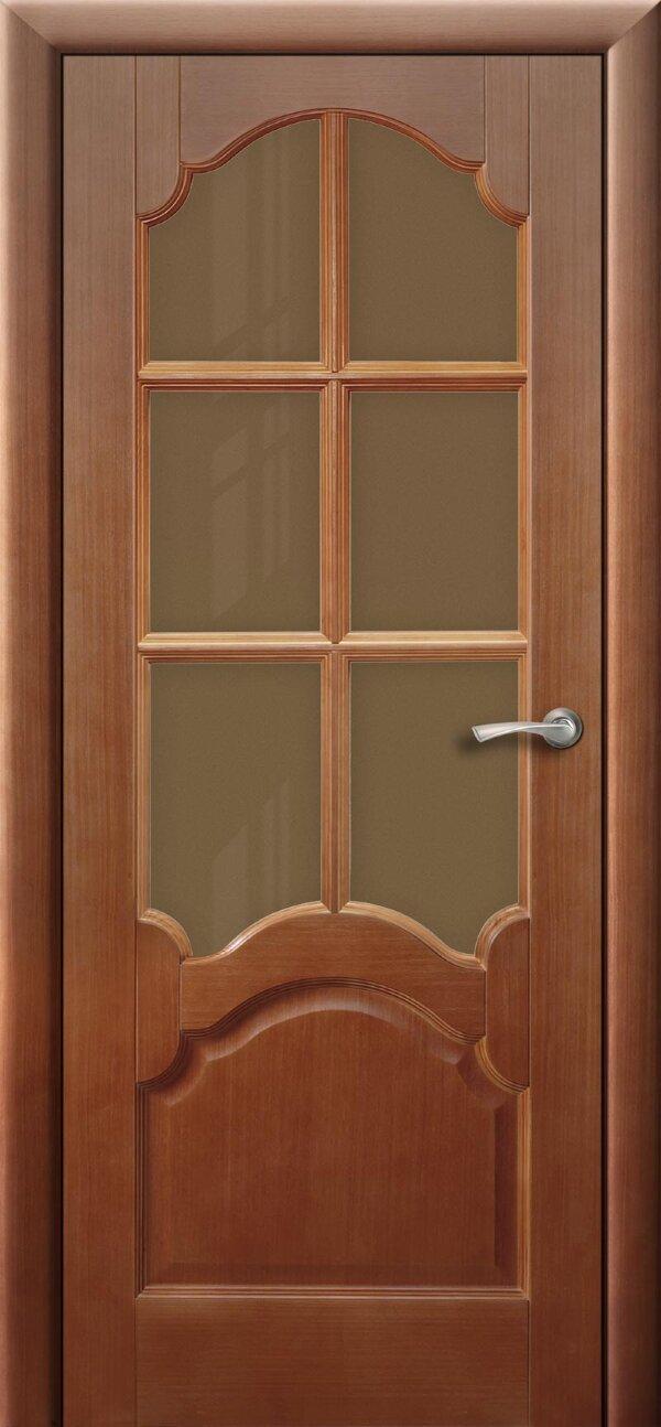 Ульяновская межкомнатная дверь Viva Коралл (со стеклом) — Дверимаркт