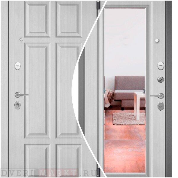Входная металлическая дверь Бульдорс Mass 90 9S-140 с зеркалом — Дверимаркт